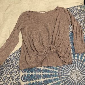 Rose Colored Tuck Sweater